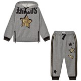 So Twee Grey and Gold Applique and Sequin Tracksuit