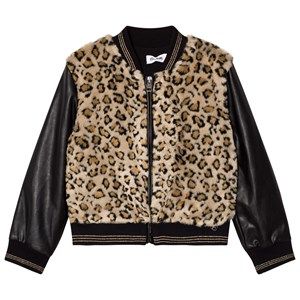 SO TWEE | So Twee Faux Leopard Fur And Leather Bomber Jacket 6 Years | Goxip