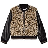 So Twee Faux Leopard Fur and Leather Bomber Jacket
