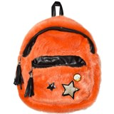So Twee Orange Faux Fur Backpack