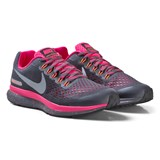 Nike Black and Pink Nike Zoom Pegasus 34 Shield Junior Trainers