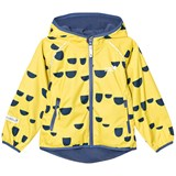 Muddy Puddles Yellow with Navy Hoof Ecosplash Hooded Jacket