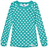 Muddy Puddles Pale Green with White Clouds Base Layer Sweater
