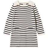 Cyrillus White and Navy Stripe Long Sleeve Dress