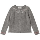 Cyrillus Dark Grey Long Sleeve Designed Cardigan