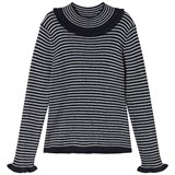 Cyrillus Navy and Cream Stripe Jumper