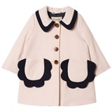 Hucklebones Pink and Navy Petal Pocket Wool Coat