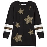 Relish Black Star Embroidered Knit Dress