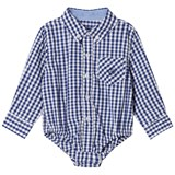 Andy & Evan Navy and White Gingham Button Down Shirtzie
