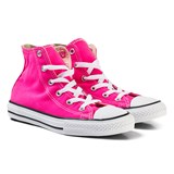 Converse Pink and White Kids Chuck Taylor All Star - Hi
