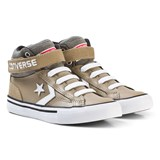 Converse Khaki and White Kids Pro Blaze Strap - Hi