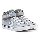 Converse Grey and White Kids Pro Blaze Stripe - Hi