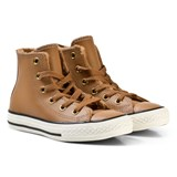 Converse Brown and White Kids Chuck Taylor All Star - Hi