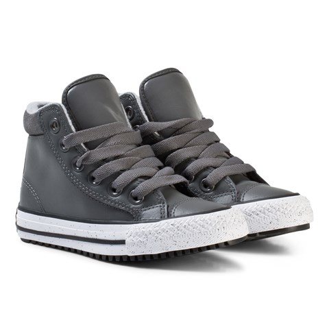 Converse Dark Grey and White Kids Chuck Taylor All Star Trainers ... f4edb9036