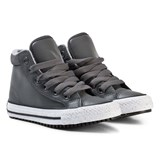 Converse Dark Grey and White Kids Chuck Taylor All Star Boot PC