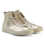 Converse Gold Junior Chuck Taylor All Star Metallic Leather Hi-Tops