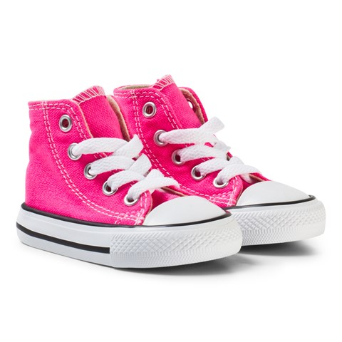 0bfa66f1e90f Converse Pink and White Infants Chuck Taylor All Star Hi-Tops ...