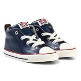Converse Navy and White Infants Chuck Taylor All Star Street - Mid