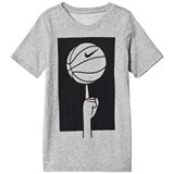 Nike Grey Sportswear Spinning Ball Graphic Tee