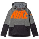 Nike Black and Grey Sportswear Therma Hoodie