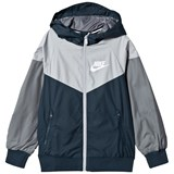 Nike Navy and Grey Sportswear Hooded Jacket