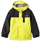 Volcom Yellow Colour Block Insulated Ski Jacket