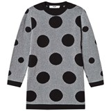MSGM Black and Silver Lurex Spot Dress