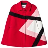 MSGM Fuchsia Wool and Argyle Cape