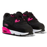 Nike Black and Pink Nike Air Max 90 Leather Infants Trainers