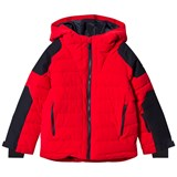 Fusalp Red and Navy Challenger Ski Hooded Jacket
