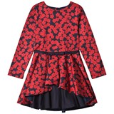 Jessie & James Red Poppies Print Layered Dress