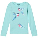 Lands' End Blue Birds Novalty Graphic Tee