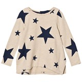 Lands' End Beige Star Long Sleeve Plain Sweatshirt Legging Top
