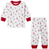 Kissy Kissy White Christmas Print Pyjamas