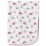 Kissy Kissy White Christmas Print Blanket