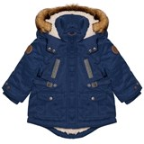 Mayoral Blue Padded Hooded Parka with Teddy Lining