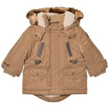 Mayoral Camel Padded Hooded Parka with Teddy Lining