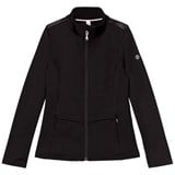 Poivre Blanc Black Stretch Fleece Full Zip Mid Layer