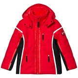 Poivre Blanc Red Insulated Side Panelled Ski Jacket