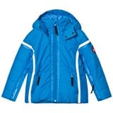 Poivre Blanc Blue Insulated Ski Jacket with Embroidered Back