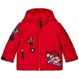 Poivre Blanc Red Insulated Ski Jacket with Embroidered Appliques