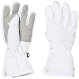 Poivre Blanc White Quilted Ski Gloves