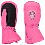 Poivre Blanc Pink Infants Ski Mittens with Embroidery