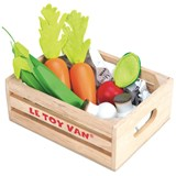 Le Toy Van Vegetables 5 a Day Toy Crate