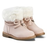 Mayoral Pink Faux Fur Cuffed Boots