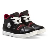 Diesel Black Mid-Top Lace Trainers