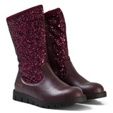 Lelli Kelly Burgundy Glitter Glamour Mid Ankle Boots