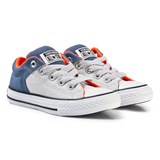 Converse Grey and Blue Chuck Taylor All Star Low-Top Trainers