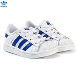 adidas Originals White and Blue Infants Superstar Trainers