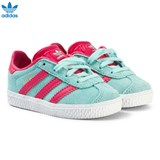 adidas Originals Aqua and Pink Infants Gazelle Trainers